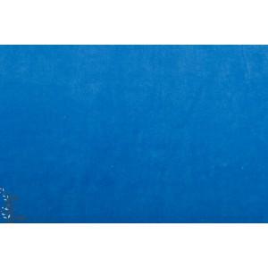 Velours Hilco Minky ras bleu clair