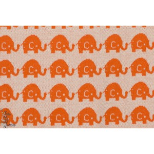 Jacquard Bio Elephants oranges