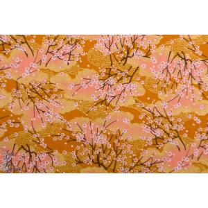 Popeline Sakura Bayashi orange jaune