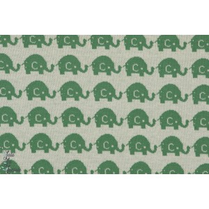 Jacquard Bio Elephants Verts