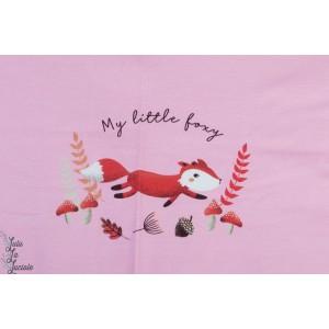 Panneau jersey ''My Little fox '' Rose