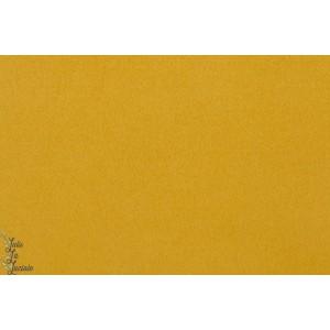 Tissu Caban Moutarde manteau veste chaud épais ocre jaune