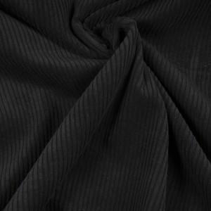Velours à grosse cote noir Hilco