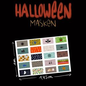 Halloweenmasken Popeline Bio Lillemo Lillestoff