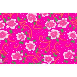 tissu coton Popeline Petit Pan FIORA ROSE fleur