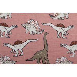 jersey Bio Dino blush pink  Elvelyckan Design