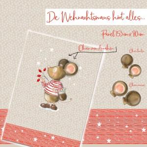 Panneau sweat Bio Die Weihnachtsmaus Hört Alles   La souris de Noël entend tout