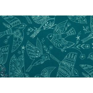 Popeline Dashwood Aviary 1724 oiseau bleu bethan janine