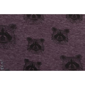 sweat minky Racoons Laveur violet