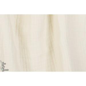Triple Gaze de coton Texturé en Blanc by kokka
