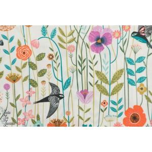 Popeline Dashwood Aviary 1721 oiseau fleur bethan janine