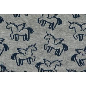 tissu Jacquard coton bio Jersey Licorne couture enfant