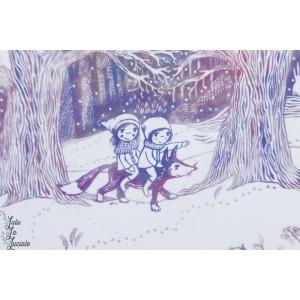 Sumùmersweat Bio Winterwald Verlauf  Lillestoff SUSAlabim new