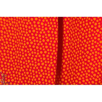 Jersey rouge orange à pois