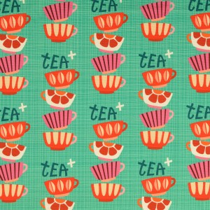 Canvas Hamburger Liebe Earl grey turquoise - In my kitchen