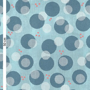 popeline Bio Big konfetti Blau Lillestoff