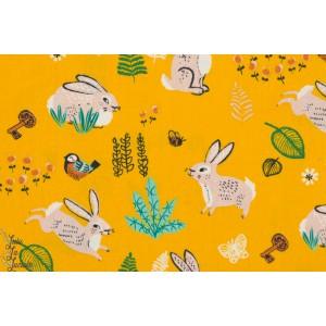 tissu coton Popeline BIO BIRCH Bug catcher chasseur d'insecte hidden garden