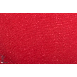 Bord cote Lurex rouge silver