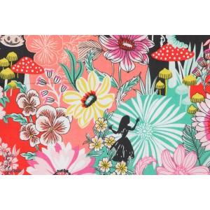 tissu coton Popeline Wonderland by Blend Alice au pays des merveilles