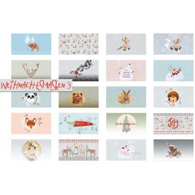 Panneau Masque Weihnachtsmasken 3 Lillestoff noêl Lillestoff