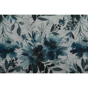 Sweat Bio Elina Gray Tygdrommar fleur bleu gris chiné