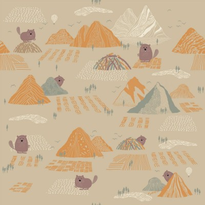 Softshell Beaver and mountains Katia