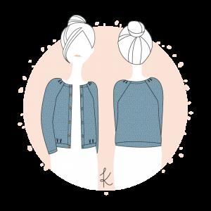 Patron .couture femme cardigan veste gilet  Bergen Anne Kerdilès