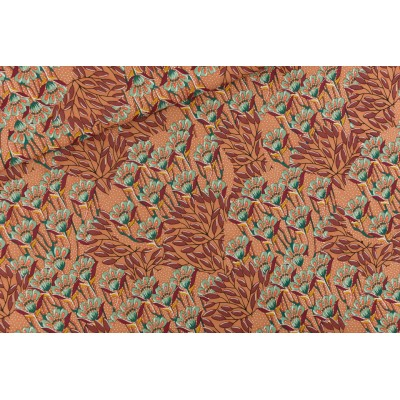 Viscose Gilly Flowers - M - Viscose Rayon - Brun coup de soleil - R  See You at Six