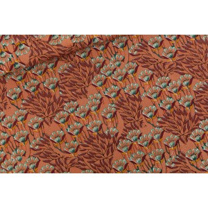 Gilly Flowers - M - Cotton Canvas Gabardine Twill - Brun coup de soleil - SYAS