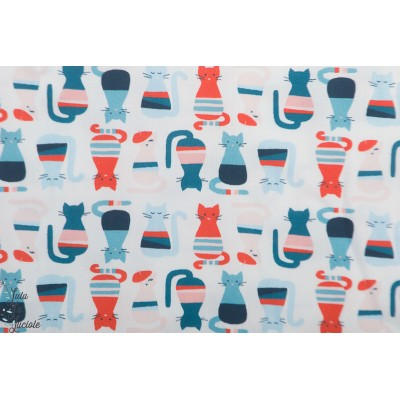 Popeline Bio Cool Cats from Modern Love By Monaluna Fabrics
