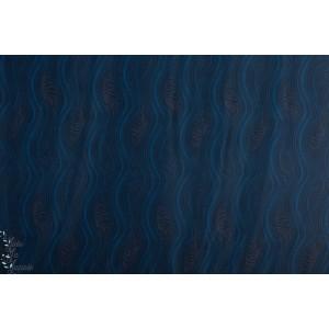 Jersey Elastique sport bleu graphique