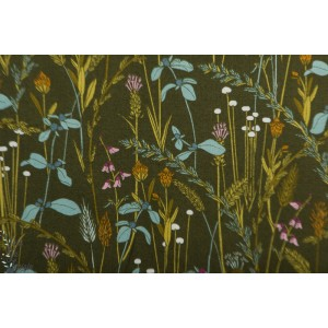 Popeline Bio Little Grasses From Grasslands by Sarah Watson Cloud9