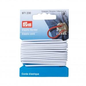 Corde elastique 2.5mm blanc Prym 971230
