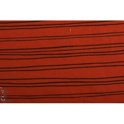 Sweat bio Poppy SOFT SWEAT GOTS stripes terracota