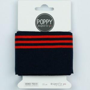 Cuff Poppy 8191- col 008  Bleu rouge