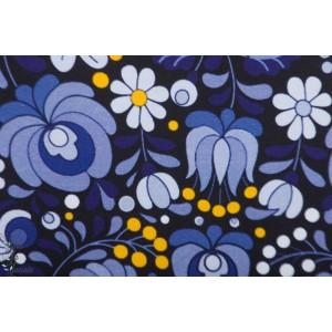 Jersey Bio Allmonge Blâ  by Ernest fleur bleu retro
