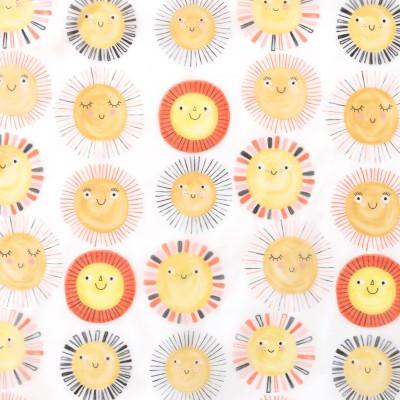 Tissu imperméable transparent sunshine Katia