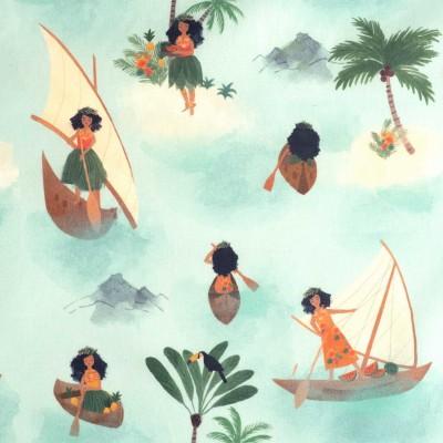 Tissu imperméable  Polynesian Seafarers  Katia