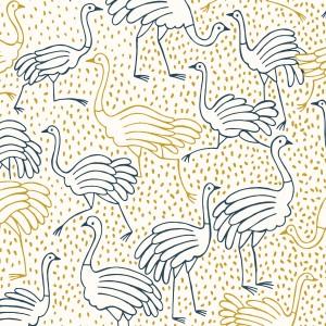 Tissu  Canvas Gold Ostrich Katia