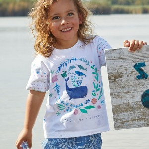 Panneau jersey T-shirt under the sea katia