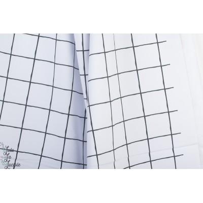 Summersweat Bio Grid, schwarz-weiß Lillestoff
