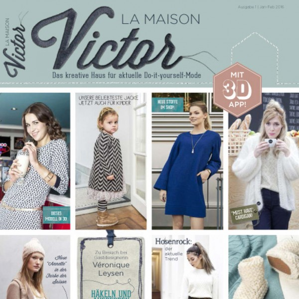 magazine patron couture tricot famille maison victor 1 2016. Black Bedroom Furniture Sets. Home Design Ideas