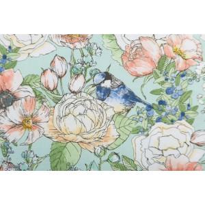 Popeline Nature's Notebook - Fleur et oiseau  par Robert Kaufman