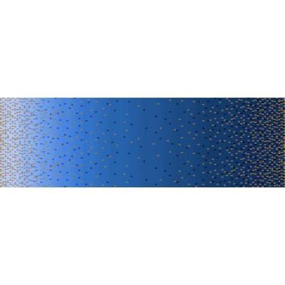 Popeline  Quintessentials double bordure bleu Michael Miller
