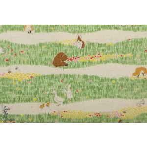 Coton animaux dans l'herbe par Kokka
