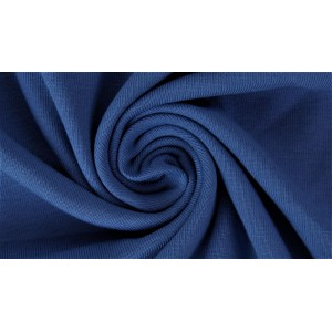 Jersey Uni Bio Jeansblau dunkel Lillestoff