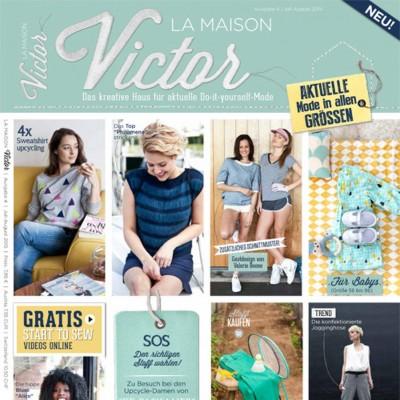 Magazine patron couture et tricot pour toute la famille  Maison Victor 4/2015 - en français - Juillet - Aout