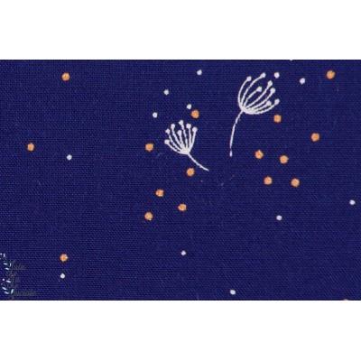 Viscose rayon , soft cactus,See You at Six - Dandelions, fleur de pissenlit - Bleu