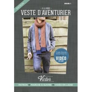 Patron couture Veste homme ADVENTURE  allemand maison victor