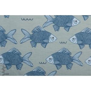 Jersey Bio Fish Pond bleu  Elvelyckan Design